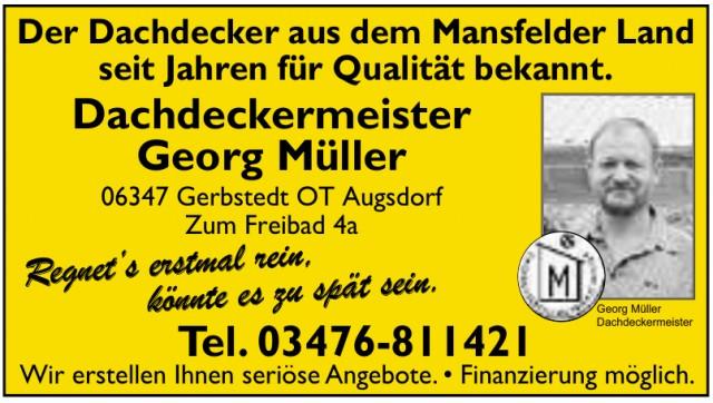Dachdeckermeister Georg Müller