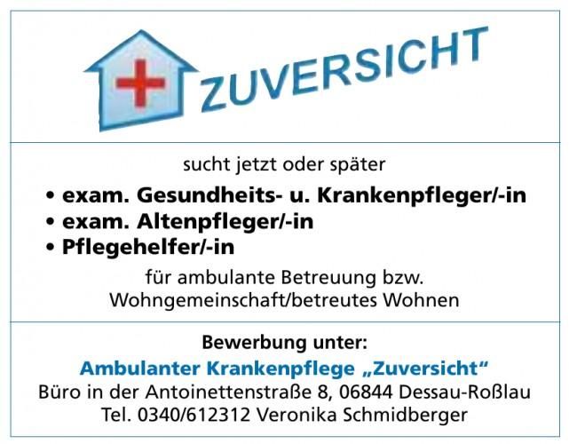 """Ambulanter Krankenpflege """"Zuversicht"""""""