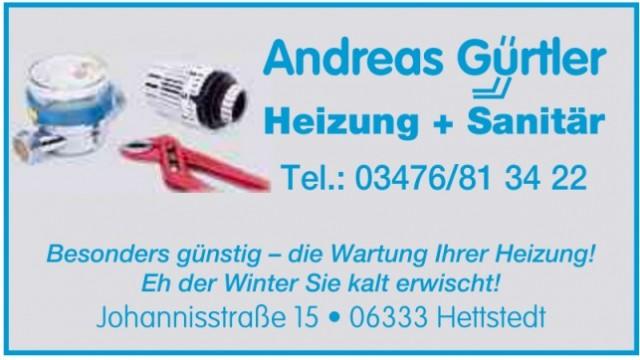 Andreas Gurtler Heizung + Sanitär