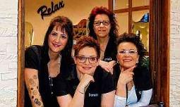 Das Haargenau-Team: Christin Thuring, Doreen Schadebrodt, Daniela Nonnenberg und Kathleen Honigmann-Kopatz (v. l. n. r.). FOTOS: DOREEN FISCHER